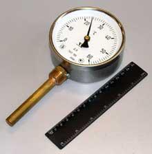 Термометр биметаллический для контроля твердения бетона